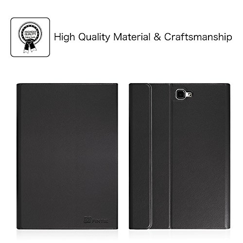 Fintie Tastatur Hülle für Samsung Galaxy Tab A 10,1 Zoll 2016 T580N/ T585N Tablet - Ultradünn leicht Schutzhülle mit magnetisch Abnehmbarer Drahtloser Deutscher Bluetooth Tastatur, Schwarz
