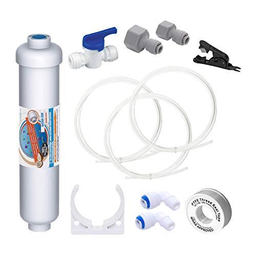"""Vyair AquaFilter Untertisch Trinkwasser Anti-Kalk, Anti-Chlor Filtrationssystem mit 10"""" GAC Filter und Allen Erforderlichen Rohrleitungen + Fittings (Untertisch Kit)"""