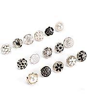 30 stuks vrouwen shirt broche knoppen, bedekken knoppen pin schattig email revers pin set voor vrouwen kleding levert geschenken