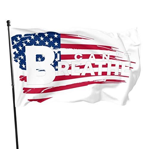 Mailine Flagge 895 Ich kann 'Nicht atmen Flagge 3' X 5 'Ft langlebig & lichtbeständig Banner für Gartenhaus Hof Outdoor Dekor Flagge