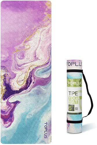 Yoga Mat -1/4 Inch Print Extra Pattern Thick Fitness Exercise Mat Non Slip for All Types of Yoga, Pilates & Floor…
