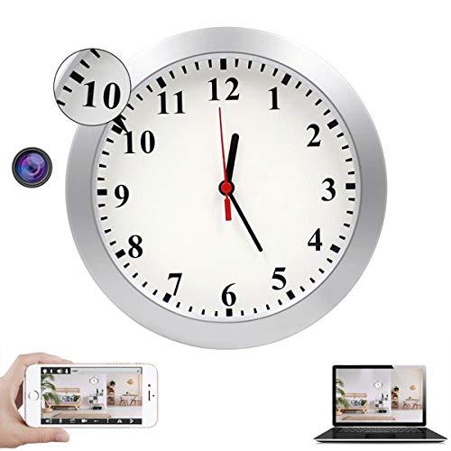 Cámara Espía Oculta WiFi, Reloj De Pared HD 1080P Reloj De Cámara Banco De Energía Incorporado/Gran Angular De 180 ° / Aplicación iOS Y Android Visión Nocturna