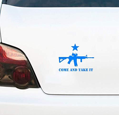 Kommen Sie und Sie es Gun Flag Texas Autosticker Car Sticker Accessoires 18 cm x 14,3 cm voor Auto Laptop Raam Sticker