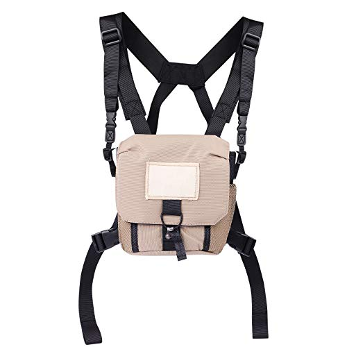 Binocular Harness Case, Lightweight Bino Harness for Hunting and Hiking, Prevent Binocular Drops and Rocking, Disperses Binocular Weight to Reduce Strain on Your Neck Muscles, Breathable and Roomy
