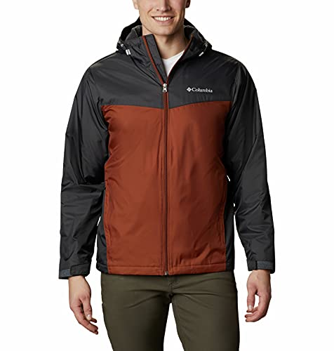 Columbia Men's Glennaker Faux Sherpa Lined Jacket, Shark/Dark Amber, Large