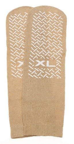 PrimeMed SPECIAL Slipper Socks; XL 3 pack in Beige