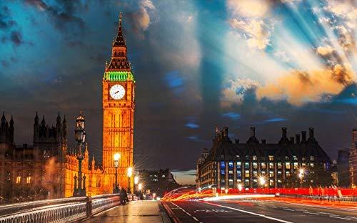 OKOUNOKO Puzzles 150 Piezas, Londres, Big Ben, Decoración para El Juego De...