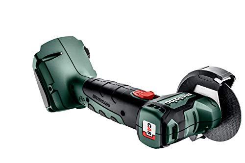Metabo Akku Winkelschleifer CC 18 BL (ohne Akku, Schleifscheiben-ø 76 mm, mit Schleifscheiben + metaLoc Koffer, Akkuspannung 18 V, Gewinde M 5) 600349840