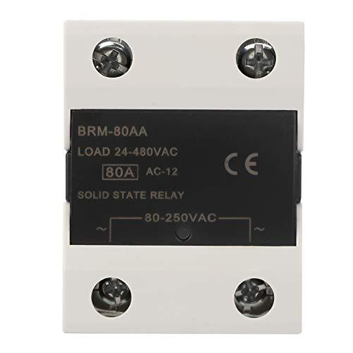 Relé de estado sólido 60AA / 80AA / 100AA / 120AA Velocidad de conmutación rápida sin chispa para luces de señal(BRM-80AA)