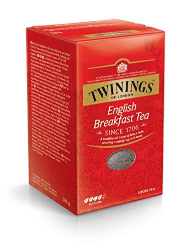 Twinings English Breakfast Schwarztee ∙ loser Tee 200g, Voller, runder und kräftiger Schwarztee aus den besten Teegärten von Sri Lanka und Indien. Black Tea 1er Pack (1 x 200 g)