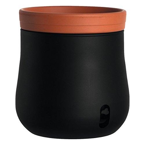 Leonardo Serra Plantenpot, zwart