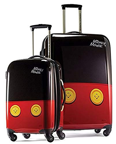American Tourister Disney Hardside Luggage with Spinner Wheels, Mickey Mouse Pants, 2-Piece Set (21/28)