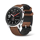 Amazfit GTR Stainless Steel Smartwatch with GPS+Glonass, All-Day Heart Rate Monitor, Daily Activity Tracker Rate and Activity Tracking, 24-Day Battery Life, 12- Sport Modes,Answer the Call,47mm