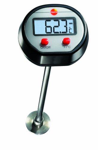 Testo 0560 1109 Mini oppervlakte-thermometer tot 300 °C, lengte 120 mm, brede meetpunt, goed afleesbaar display, inclusief batterijen