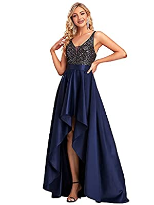 Ever-Pretty Evening Party Dress for Women Formal Long Bridesmaid Dress for Wedding Guest US16 Navy Blue