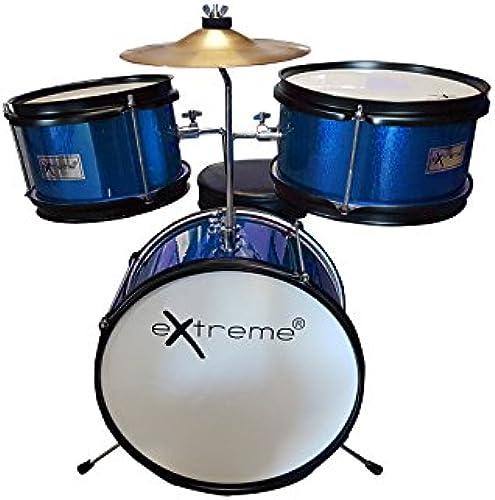 Extreme D950j3 BL Akustisches Junior-Schlagzeug, 3 Teile, Farbe blau