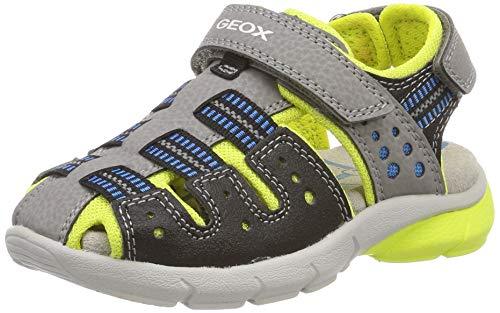 Geox J Sandal Flexyper Boy D, Punta Chiusa Bambino, Grigio (Grey/Lime C0666), 30 EU