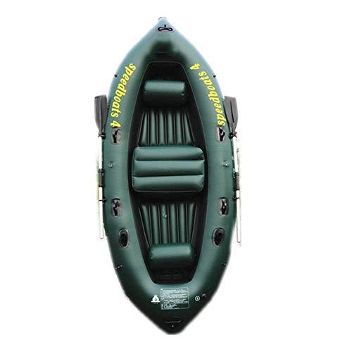 QSs- Kayak Inflable Kayak Plegable Kayak Exterior Bote cómodo Kayak recreativo Bote Plegable 2-4 Personas Bote Inflable Marina Deporte Pesca Aventura Grueso PVC plástico