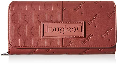 Desigual Accessories PU Long Wallet, Largo Walet. para Mujer, Rojo, U