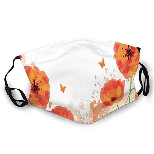 Gezichtsmasker, digitaal waterkleuren ontwerp van Poppy Authentic Classic botany bouquet patroon print veiligheidshoes voor volwassenen