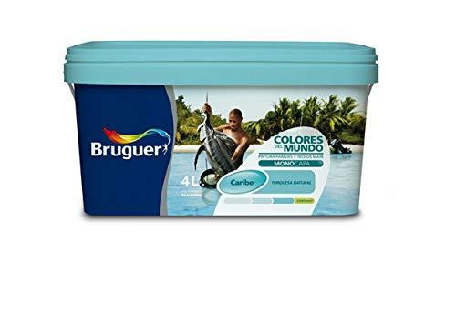 Bruguer-Pintura Colores del mundo Caribe matiz de Turquesa 4L