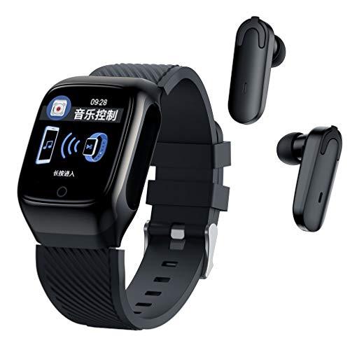 Nsdsb S300 Smart Watch Hombres Auriculares con Auriculares Música Deportes para Ejercicio Run Black