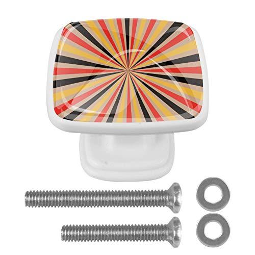 Pomo para cajón de cristal de color Boom Cool de 30 mm, mango cuadrado ergonómico con tornillos, 4 piezas