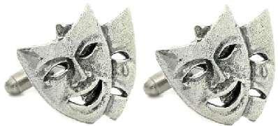 En forme de masque de théâtre acteur cadeau Boutons de manchette