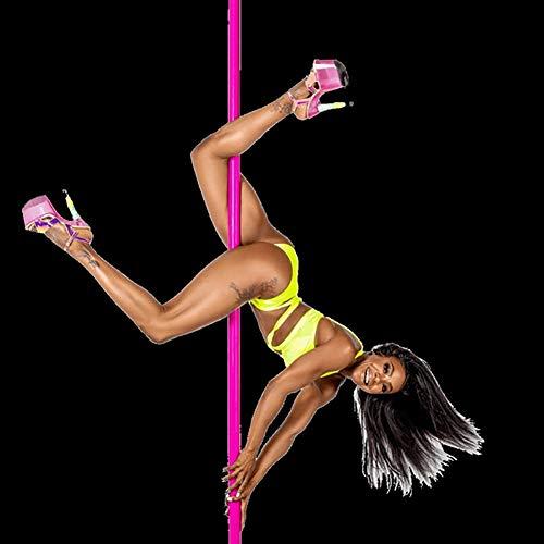 TINE 360 Vuelta Pole Dance Formación Stripper Pole Dance Portátil Extraíble Profesional De Pole Dance, por Casa, Ejercicio Club del Partido del Pub,Rosado