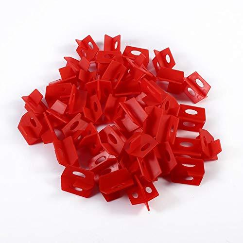 Les-Theresa 50 Uds 1/16 '' sistema de nivelación de azulejos rojo 3 espaciador lateral cruz y herramientas de pared de piso de cerámica en forma de T