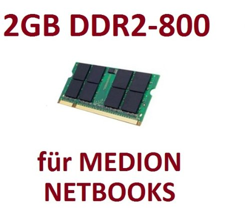 Mihatsch & Diewald / Netbook - Memory - 2GB - SO-DIMM 200-PIN - DDR2 - 800 MHz passend für MEDION® AKOYA® E1210 + E1211 + E1212 + E1213 + E1215 + E1216 + E1217 + E1221 + E1222 + E1311 + E1312 + E1313 + S1213