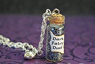 Davitu 12pcs/lot Once Upon a Time Dark Fairy Dust with a Lady Bug Charm Evil Potion Snow White Trolls Enchanted Forest Ouat