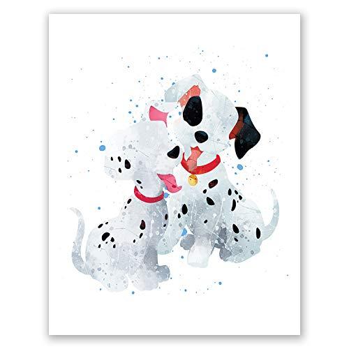 PGbureau Wandtattoo, Motiv 101 Dalmatiner mit Hundemotiv, Schwarz/Weiß 8x10