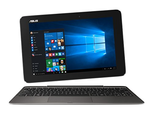 Asus T100HA-FU029T 25,7 cm (10,1 Zoll Glare Type) Convertible Notebook (Intel Atom x5-Z8500, 4GB RAM, 64GB eMMC, Intel HD, Win 10 Home) grau