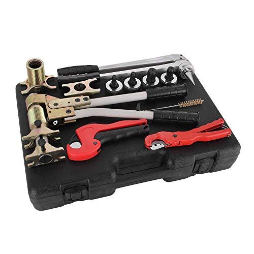 Mophorn 16-32mm PEX-Klemmwerkzeug Rohrklemmwerkzeug Montagewerkzeug Expander Ziehen Klemmen Sanitärwerkzeug-Kits Rohrinstallationswerkzeug-Kit für 16, 20, 25, 32 mm (Werkzeugsätze)