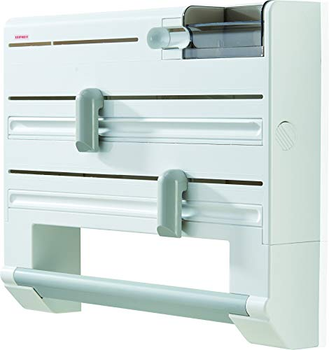 Leifheit Parat Plus ComfortLine Portarrollos de Pared, Plástico, Blanco, 38 x 31 x 9 cm
