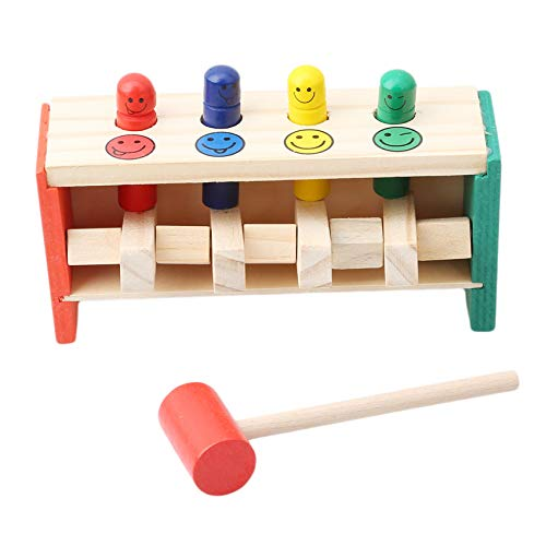Kaned Libra de madera un banco de clavijas de juguete con martillo de los niños regalo de bebé juego interactivo para el hogar