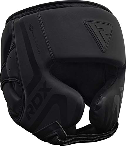 RDX Headguard for Boxing Training Padded Head Guard for Face, Cheeks and Ear Protection-Headgear for Grappling, MMA, Muay Thai, Kickboxing, Karate, BJJ, Taekwondo, Fighting, Martial Arts Matte Black