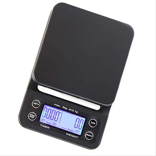 Mini Cocina Electrónica Digital, 5kg / 0.1g Escalas Libra Con Timer Barista Escala De Café Mesa Cocinando Básculas De Alimentos Para La Cocina