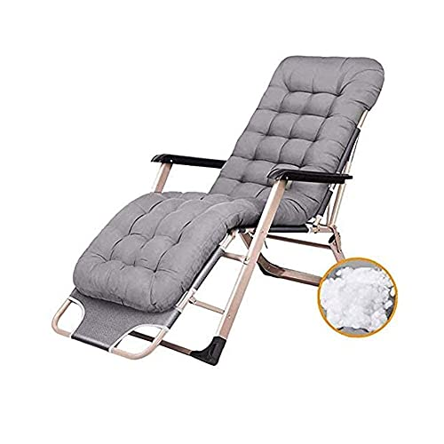 SBDLXY Furniture Deck Chairs Zero-Gravity Terrace Recliner Foldable with Cushions Patio Lounger Chair Adjustable Outdoor Office Beach Extra Wide Chair,Gray