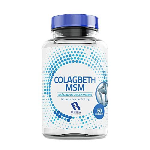 Colágeno con Ácido Hialurónico   Colágeno Marino Hidrolizado  PEPTAN + MSM + Condroitina  Suplemento Natural para un Buen Funcionamiento de las Articulaciones y una Piel Sana  60 Cápsulas