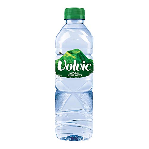 Volvic Natural Spring Water, 500ml- Bottles (Pack of 24)