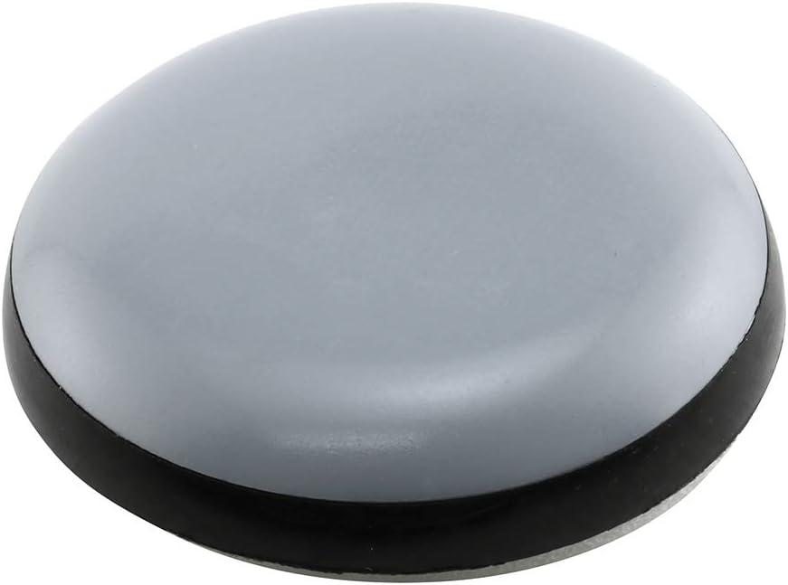PRIME-LINE Popular popular 1 Popularity in. Gray Black Plastic Permanent F Self-Stick Round