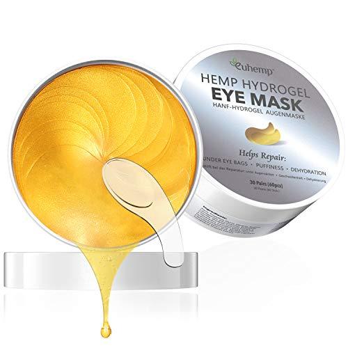 Hanf Eye Mask 2020 Patent formel, Anti-aging Augenpads, Intensive Augenpads können Schwellungen, Augenringe und Falten unter den Augen reduzieren, 60 PCS