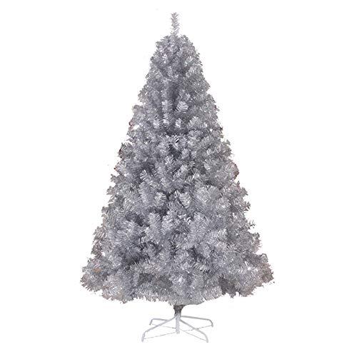 LXLTL Artificiale Albero di Natale, Abete Albero Artificiale Abete con Base in Metallo, per Decorazioni Natalizie,Argento,150cm/59in