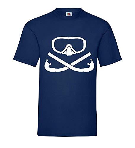 Duikbril met gekruiste snorkel mannen T-shirt - shirt 84.de