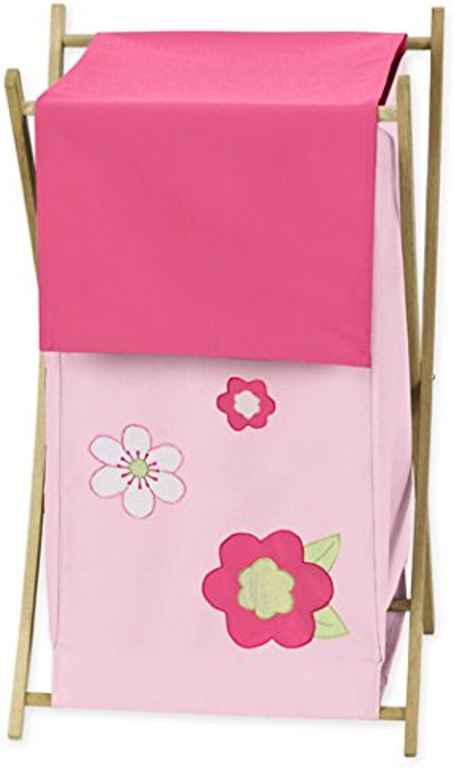 Sweet Jojo Designs Kids Laundry Hamper for the Pink and Green Flower Collection