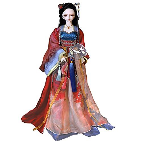 YZDKJDZ BJD Doll 1/3,24 pulgadas bola articulada muñeca acción conjunto completo figura con ropa zapatos calcetines peluca maquillaje sorpresa regalo para niñas