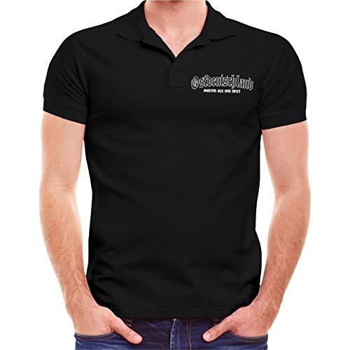 Spaß kostet Männer und Herren Polo Shirt Unterschätze nie einen Alten Mann aus der DDR (mit Rückendruck)