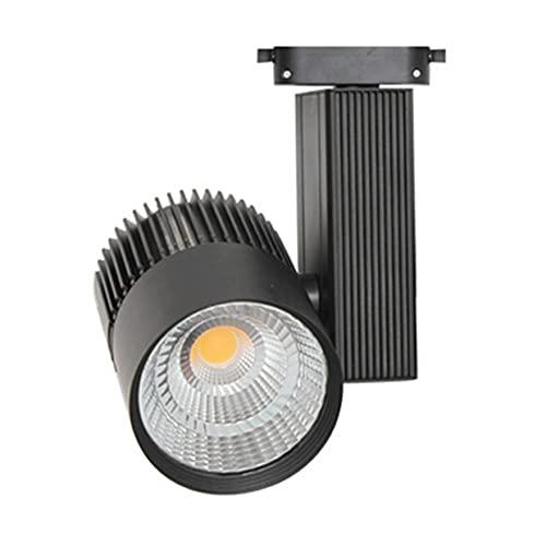 Foco de Carril LED 30W Monofásico Negro Calido 3000k Alta Luminosidad 3000lm Foco Led de Techo, Iluminacion de Comecial ONSSI LED